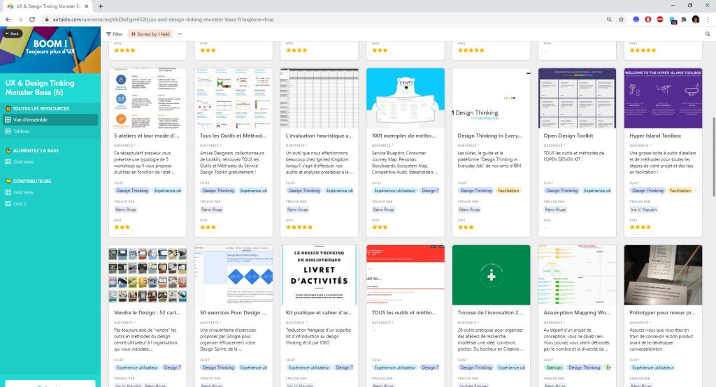 Base de ressources UX et Design Thinking capture d'écran